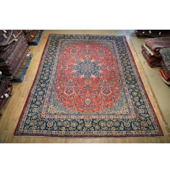 10x13 Authentic Hand Knotted Najaf Persian Isfahan Rug - Iran