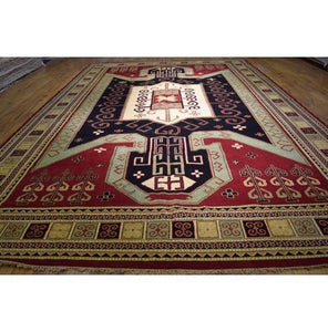 Harooni Rugs - Dazzling 12x18 Authentic Hand Knotted Eagle Kazak Rug - India