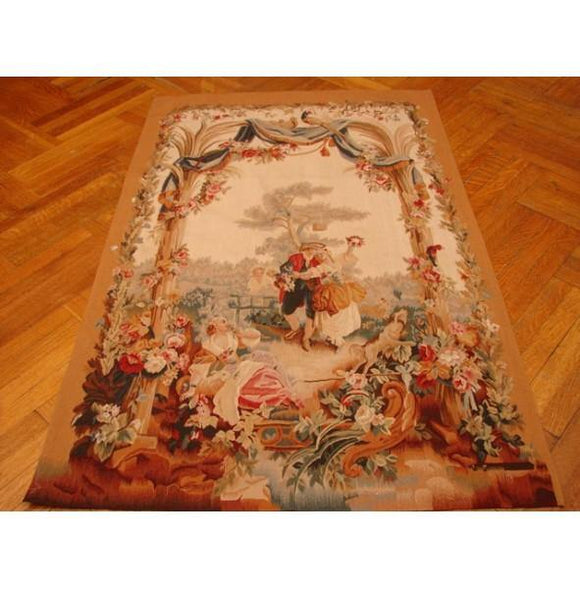 4x5 Authentic Handmade Tapestry Rug-China