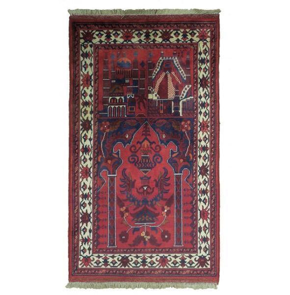 Luxurious 2x4 Authentic Hand-Knotted Tribal Baluch Rug - Pakistan