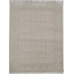 Harooni Rugs - Dazzling 9x12 Authentic Hand Knotted Wool & Silk Fine 12/60 Quality Rug - India