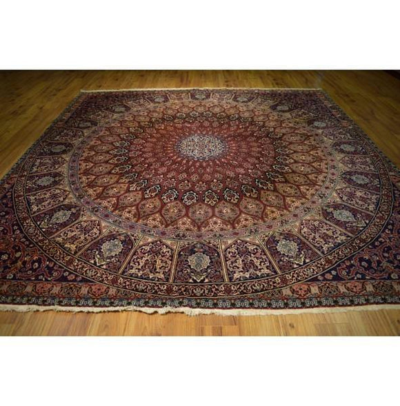 Fascinating 10x11 Authentic Hand Knotted Rug