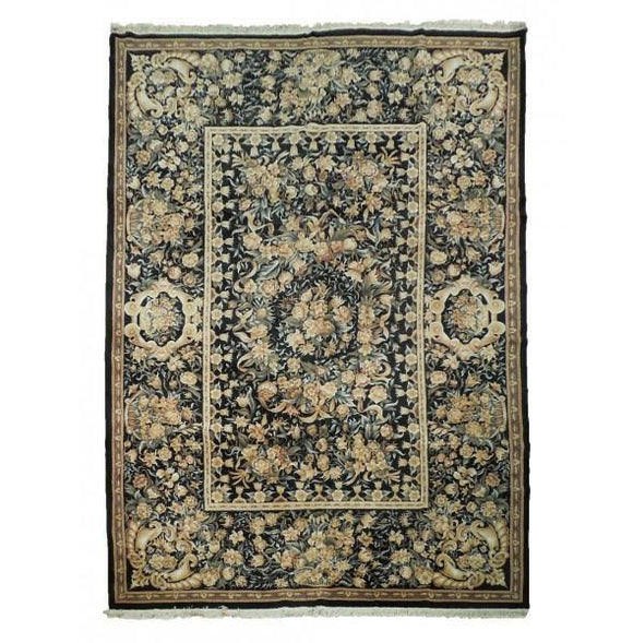 10x14 Authentic Hand-Knotted High End Fine Wool Aubusson Rug - China