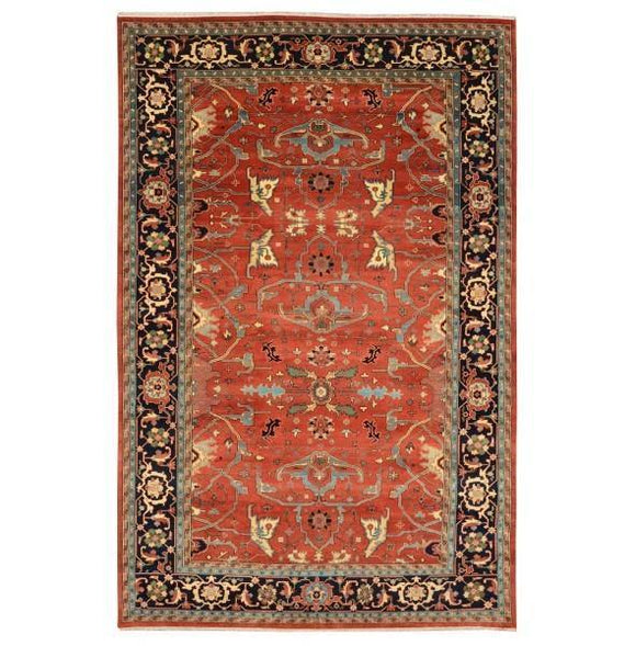 13x21 Authentic Hand Knotted Serapi Rug - India