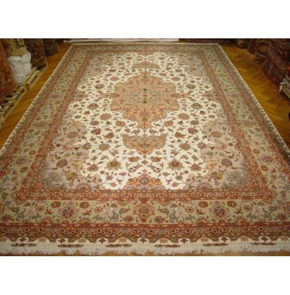 13x20 Authentic Handmade Persian Isfahan Rug