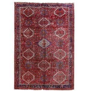 9x13 Authentic Hand Knotted Persian Heriz Rug - Iran