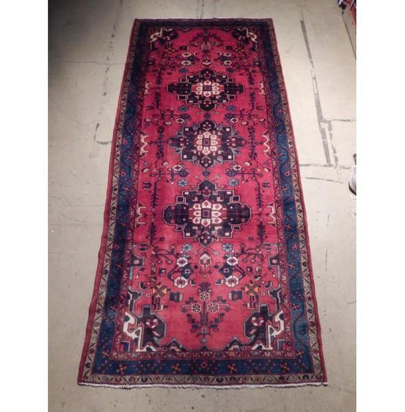 5x12 Authentic Hand Knotted Semi-Antique Persian Afhar Runner - Iran