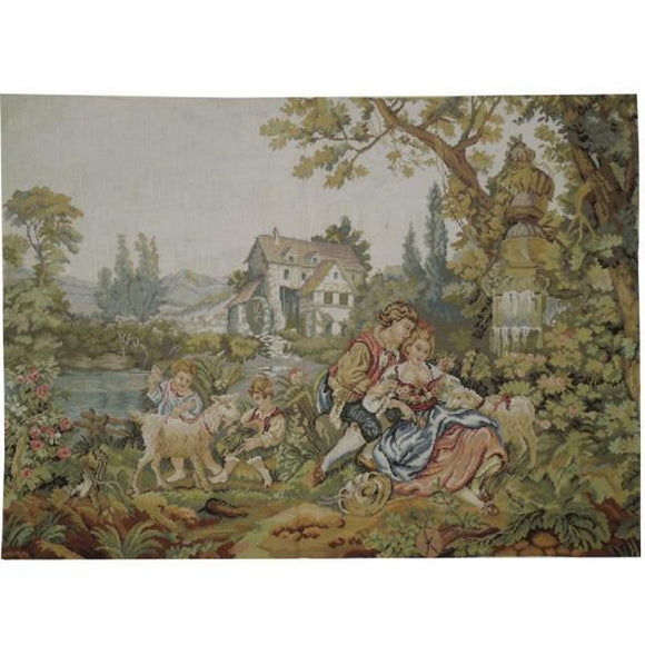 3x4 Authentic Handmade Tapestry Rug - China