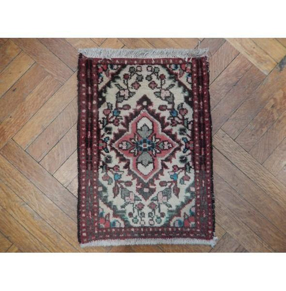 Luxurious 1x2 Authentic Handmade Persian Small Rug - Iran