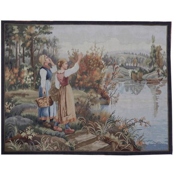 4x5 Authentic Handmade Tapestry Rug - China