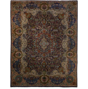 10x10 Authentic Hand-knotted Persian Kashmar Rug - Iran