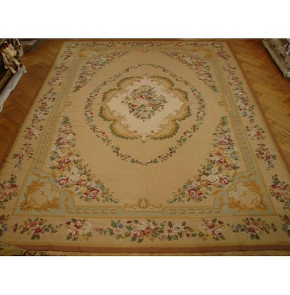 10x14 Authentic Handmade Needlepoint Rug-CHINA