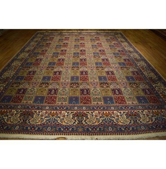 10x13 Authentic Hand Knotted Fine Quality Persian Moud Rug - Iran