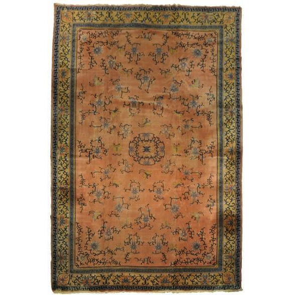 12x18 Authentic Hand-Knotted Antique Art Deco Rug - China