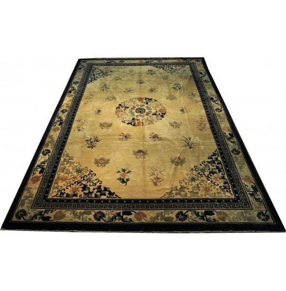 12x18 Authentic Hand-knotted Oriental Semi-Antique Art Deco - Rug