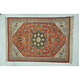 2x3 Authentic Hand-knotted High End Persian Qum Silk Rug - Iran