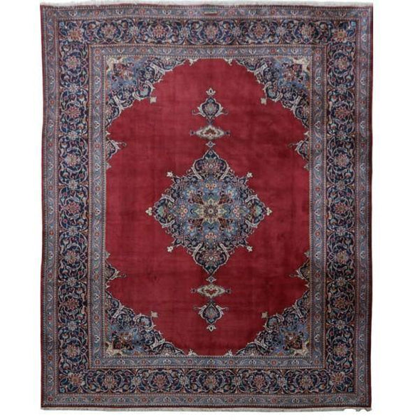 10x12 Authentic Hand-knotted Persian Signed Kashan Rug - Iran