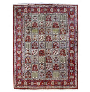 10x13 Authentic Hand Knotted Persian Isfahan Rug - Iran