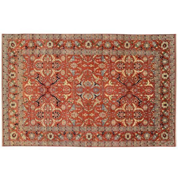 16x24 Authentic Hand Knotted Serapi Rug - India
