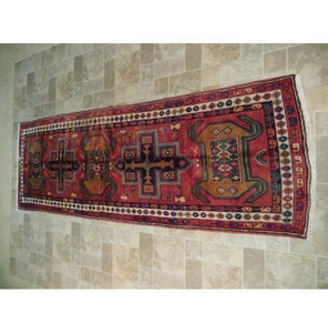 Harooni Rugs - Pristine 4x11 Authentic Hand Knotted Semi-Antique Persian Hamadan Runner - Iran
