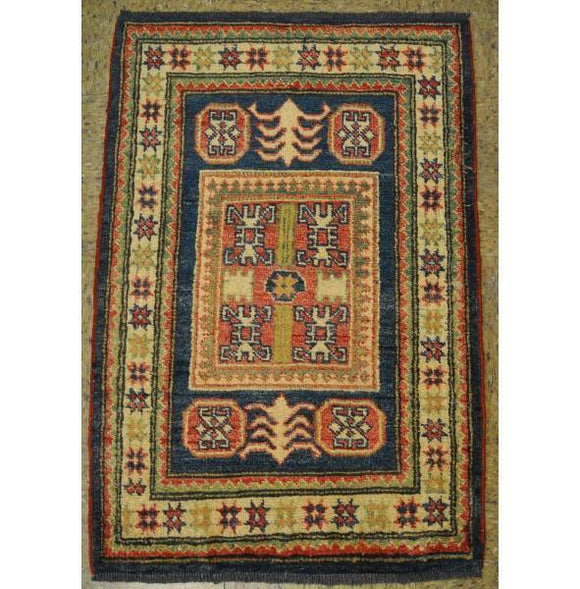2x3 Authentic Hand-Knotted Kazak Rug - Pakistan