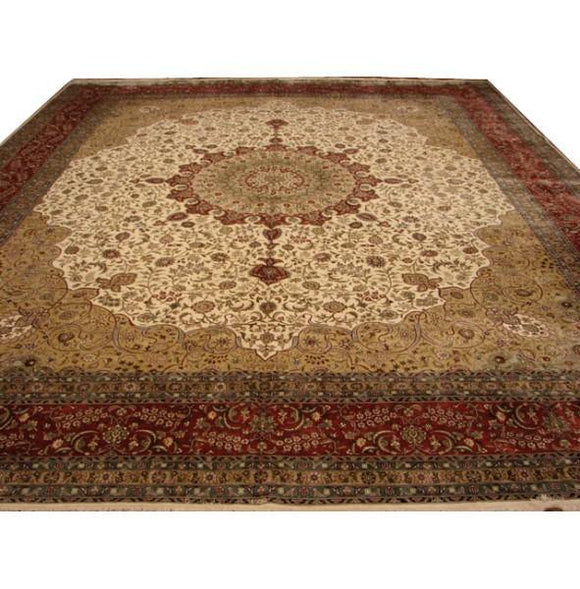 13x15 Authentic Handmade Signed Fine Silk Rug-China