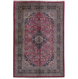 7x10 Authentic Hand-knotted Persian Kashmar Rug - Iran