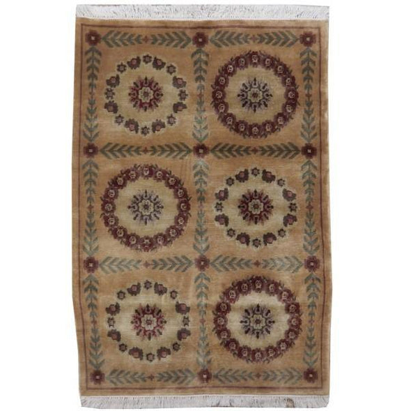 4x6 Authentic Handmade New Modern Rug - India