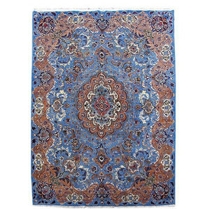8x11 Authentic Hand Knotted Persian Kashmar Rug - Iran