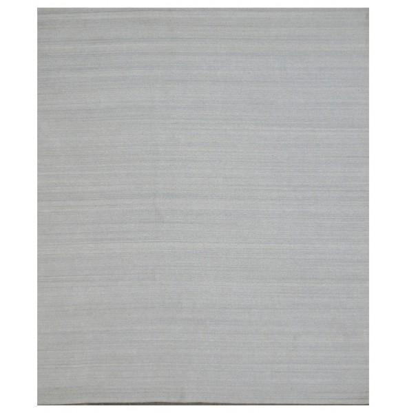 13x15 Contemporary Rug SOLID GRAY WOOL - India - bestrugplace