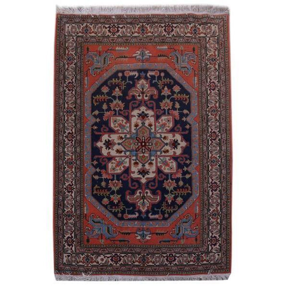 6x9 Authentic Hand-knotted Persian Ardebil Rug - Iran
