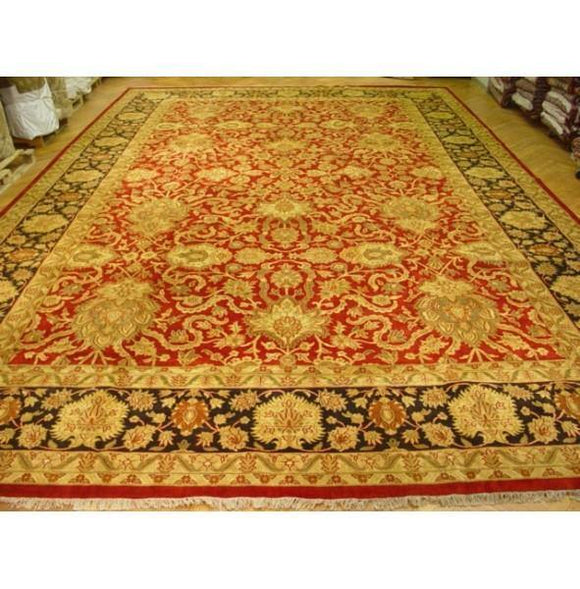 Dazzling 16x24 Authentic Handmade Vegetable Dyed Jaipur Rug - India