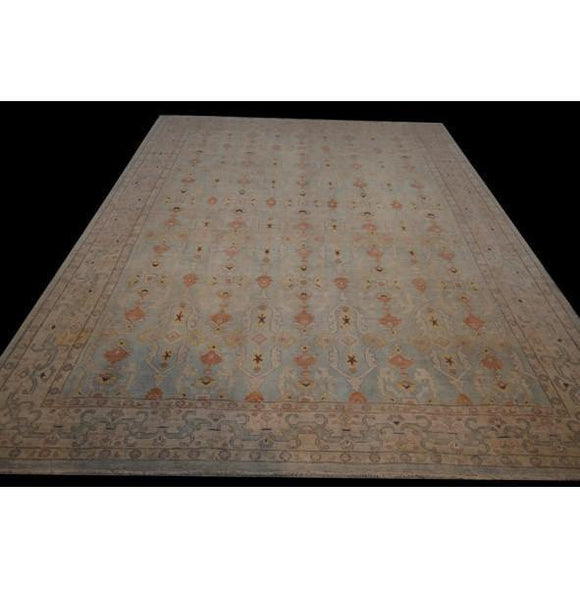 10x14 Authentic Hand Knotted Super Chobi Peshawar Rug - Pakistan