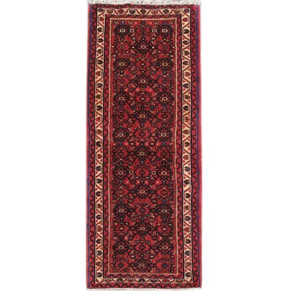 Luxurious 2x7 Authentic Hand-knotted Persian Hamadan Rug - Iran