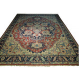 Harooni Rugs - Dazzling 12x14 Authentic Hand-Knotted Unique Heriz Sumak Flat Weave Rug - India