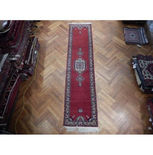 3x12 Authentic Hand Knotted Persian Sarouk Runner - Iran