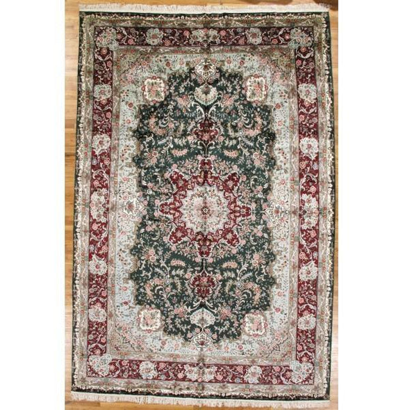 10x16 Authentic Hand-Knotted Artificial Silk French Aubusson Rug - China