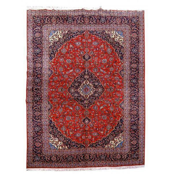 Harooni Rugs - Premium 10x13 Authentic Hand Knotted Persian Kashan Rug - Iran