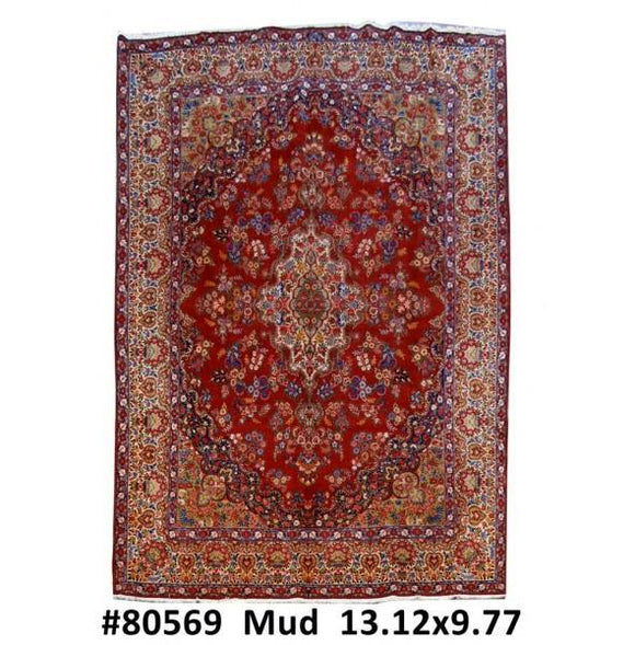 10x13 Authentic Hand Knotted Persian Mood Bijar Rug - Iran