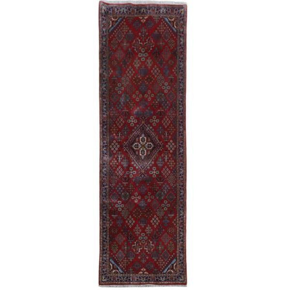 4x12 Authentic Hand-knotted Persian Meymeh Rug - Iran