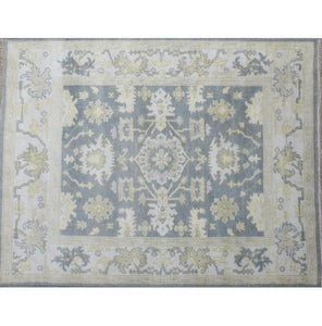 Harooni Rugs - Dazzling 8x10 Authentic Hand Knotted Oushak Rug - India