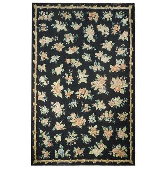 11x17 Authentic Hand-Knotted Pre-Owned Needlepoint Rug - China