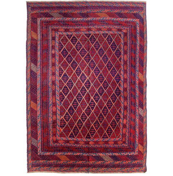 7x9 Authentic Hand Knotted Mashwani Baluch Tribal Rug - Afghanistan