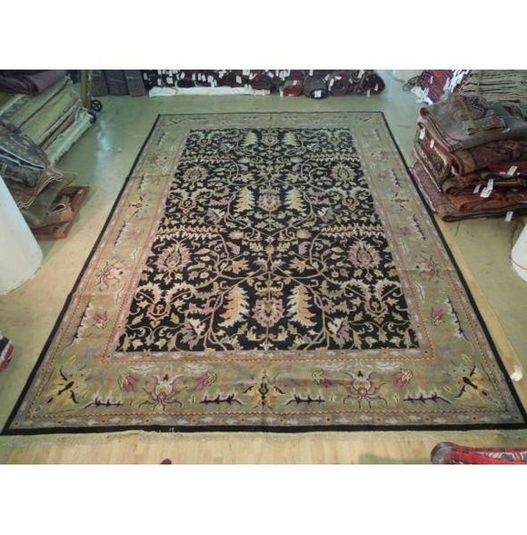 12x18 Authentic Hand Knotted Agra Rug - India