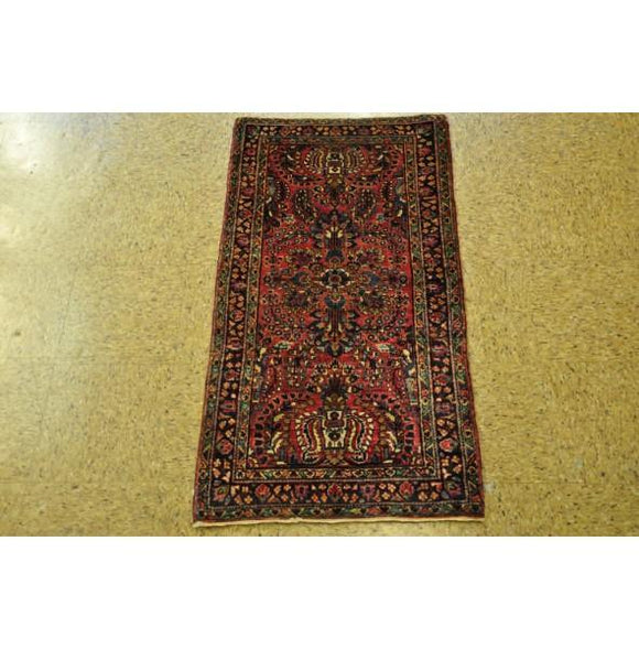 2x4 Authentic Hand Knotted Semi-Antique Persian Lilihan Rug - Iran