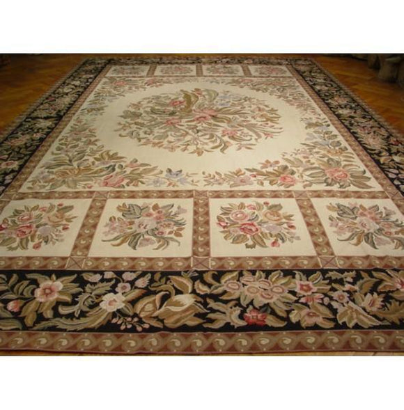 12x18 Authentic Handmade Flat-weave Needlepoint Rug - China