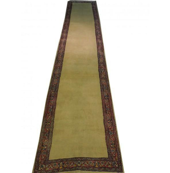 3x15 Authentic Hand-Knotted Semi-Antique Persian Kerman Runner Rug - Iran