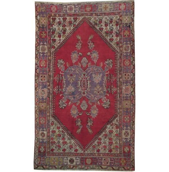 5x7 Authentic Hand Knotted Antique Caucasian Kazak Custom-trim Rug - Caucsian Region