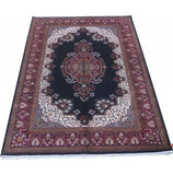 Harooni Rugs - Dazzling 5x8 Authentic Hand Knotted Jammu Kashmir Silk Rug - India