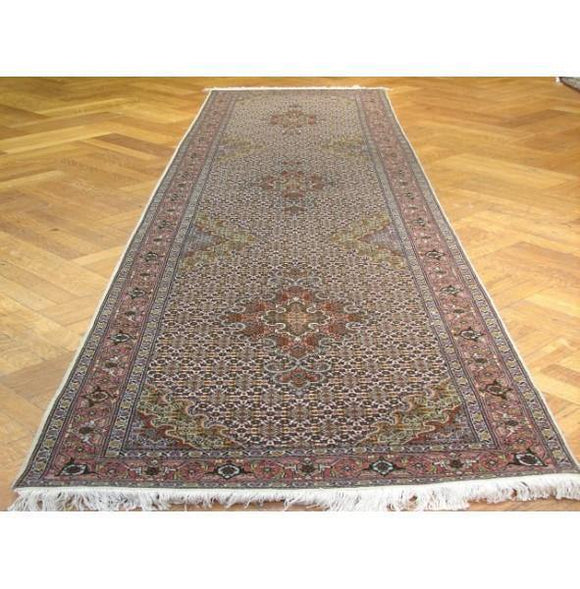 3x11 Authentic Handmade Persian Tabriz Mahi Runner-Iran